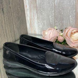 GEOX Italian Patent Leather Women's Flats Black